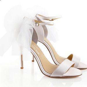Bella belle shoes Elise bow satin ivory heels